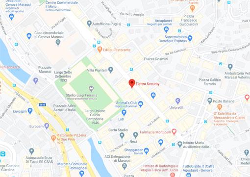 elettro security mappa genova